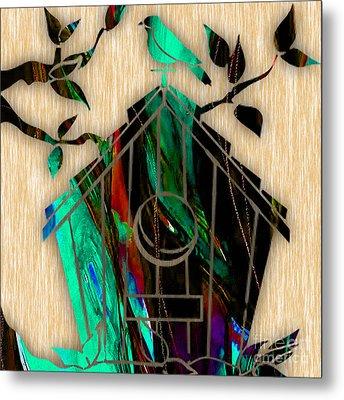 Bird House Metal Print by Marvin Blaine