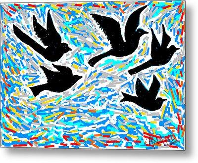 Birds In Flight Metal Print by Anand Swaroop Manchiraju