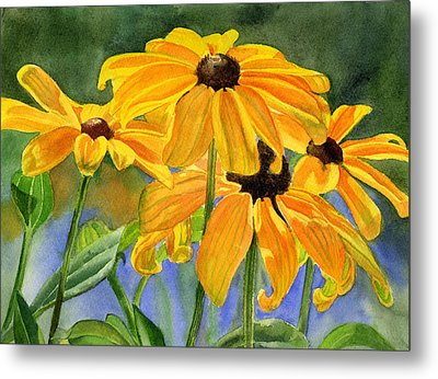 Black Eyed Susans Metal Print by Sharon Freeman