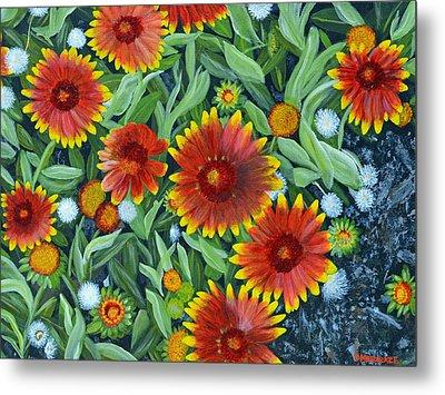 Blanket Flowers Metal Print