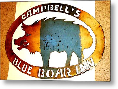 Metal Print featuring the photograph Blue Boar Inn by Larry Campbell