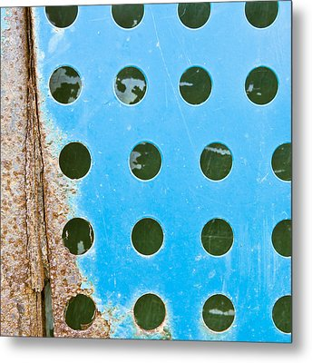 Blue Metal Metal Print by Tom Gowanlock
