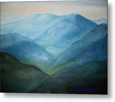 Blue Mountain Ridges Metal Print by Glenda Barrett