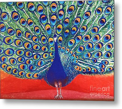 Blue Peacock Metal Print by Jasna Gopic