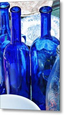 Blue Metal Print by Werner Lehmann