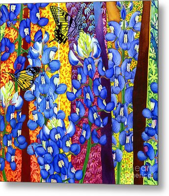 Bluebonnet Garden Metal Print