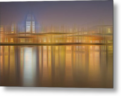Blurred Abstract City Skyline Colorful Background Metal Print by Matthew Gibson