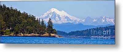 Boating On Puget Sound Metal Print