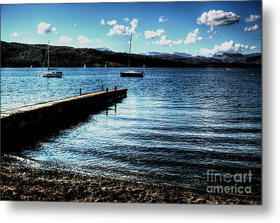 Metal Print featuring the photograph Boats In Wales by Doc Braham