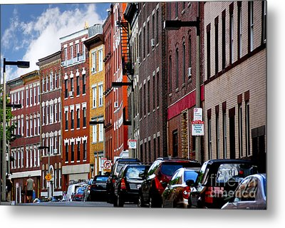 Boston Street Metal Print by Elena Elisseeva
