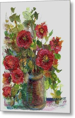 Bouquet Of Poppies Metal Print by Mary Wolf