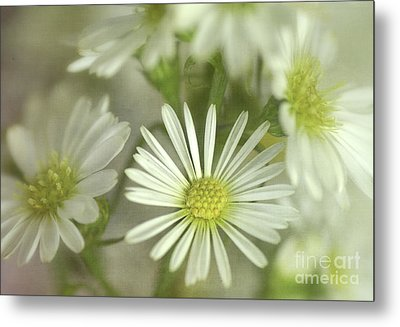 Bouquet Of White And Green Metal Print by Julie Palencia