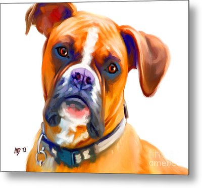 Boxer Dog Art Metal Print