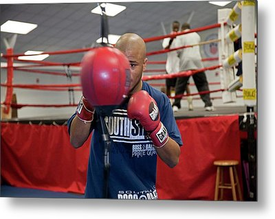 Boxer Training Metal Print by Jim West