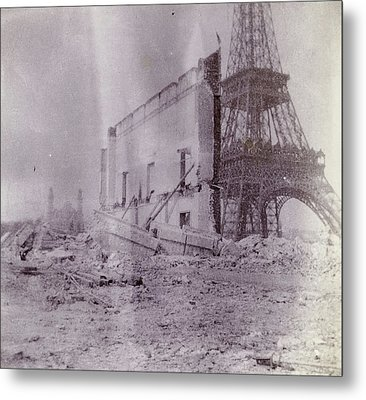 Breaking And Building Next To The Eiffel Tower Metal Print by Artokoloro
