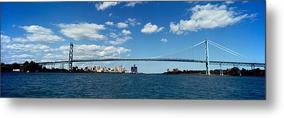 Bridge Across A River, Ambassador Metal Print by Panoramic Images