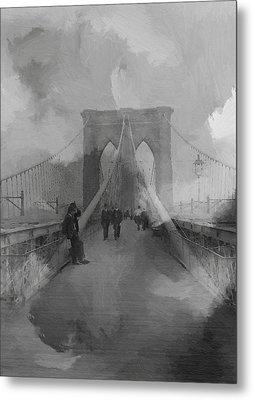 Brooklyn Bridge Metal Print by Steve K