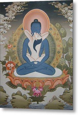 Buddha Shakti Thangka Painting Metal Print by Ts