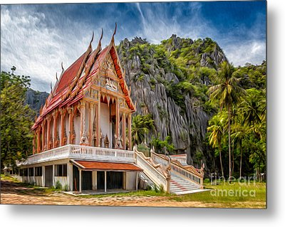Buddhist Temple Metal Print by Adrian Evans