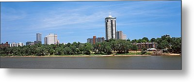 Buildings At The Waterfront, Arkansas Metal Print by Panoramic Images