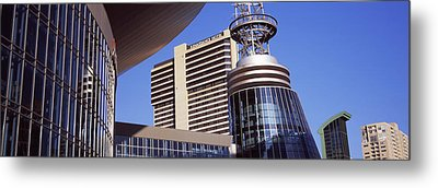 Buildings In A City, Bridgestone Arena Metal Print by Panoramic Images