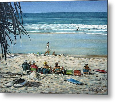 Metal Print featuring the painting Burleigh Beach 220909 by Selena Boron