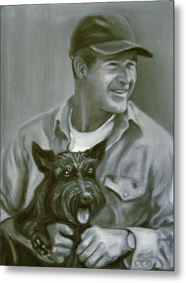 Bush And Barney Metal Print