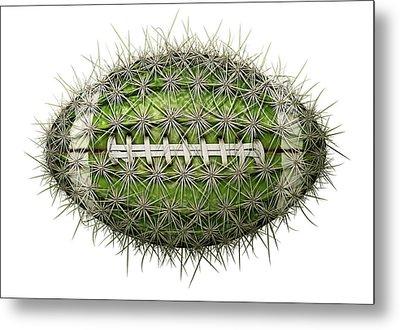 Cactus Football Metal Print by James Larkin