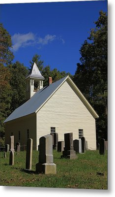 Cades Cove Primitive Baptist Church Metal Print by Dan Sproul