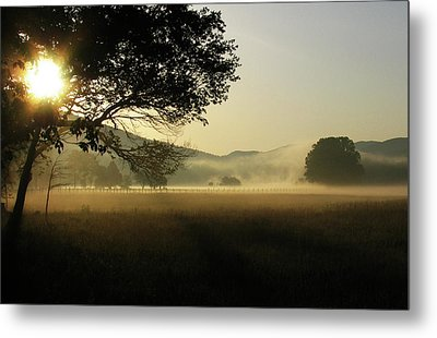Cades Cove Sunrise II Metal Print