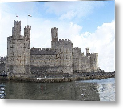 Metal Print featuring the photograph Caernarfon Castle by Christopher Rowlands