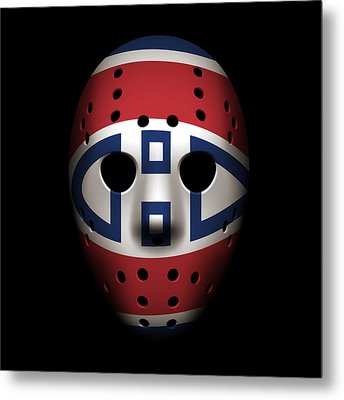 Canadiens Goalie Mask Metal Print by Joe Hamilton