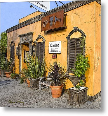 Cantina Metal Print by Chuck Staley