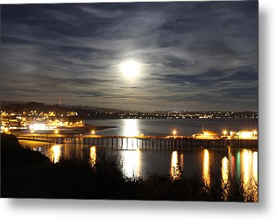 Capitola Moonscape Metal Print