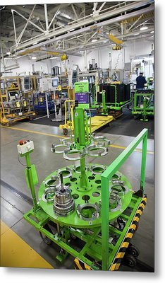 Car Transmission Assembly Line Metal Print by Jim West