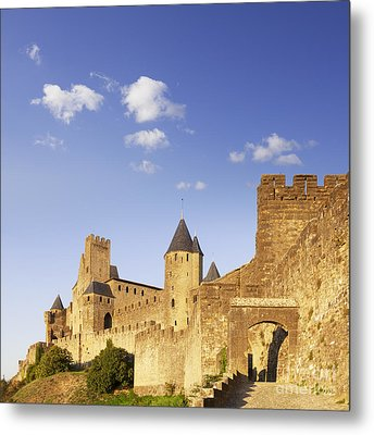 Carcassonne Languedoc-roussillon France Metal Print by Colin and Linda McKie