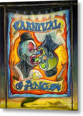 Carnival Of Angst Metal Print by Gregory Dyer