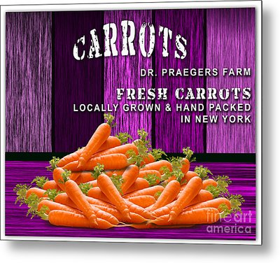 Carrot Farm Metal Print by Marvin Blaine