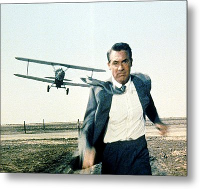 Cary Grant In North By Northwest  Metal Print by Silver Screen