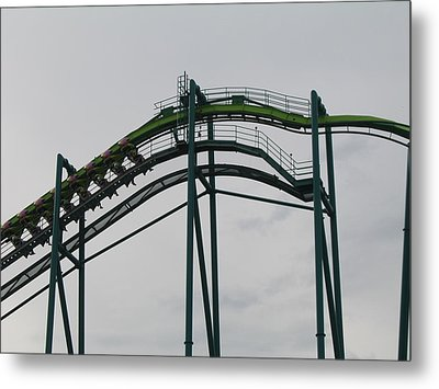 Cedar Point - Raptor - 12122 Metal Print