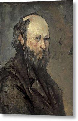 Cezanne, Paul 1839-1906. Self-portrait Metal Print