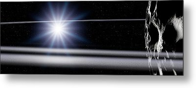 Chariklo Minor Planet And Rings Metal Print by Detlev Van Ravenswaay