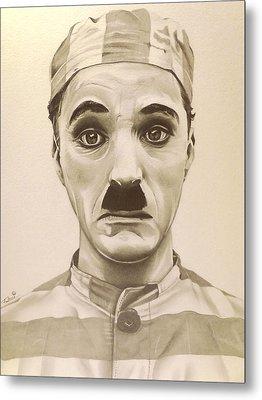 Vintage Charlie Chaplin Metal Print by Fred Larucci