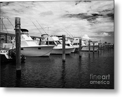 Charter Fishing Boats Charter Boat Row City Marina Key West Florida Usa Metal Print by Joe Fox