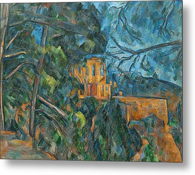Chateau Noir Metal Print by Paul Cezanne