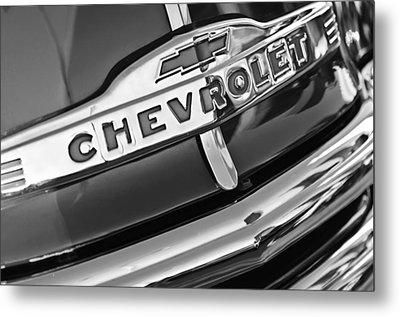 Chevrolet Pickup Truck Grille Emblem Metal Print