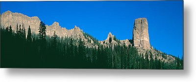 Chimney Peak In Uncompahgre National Metal Print by Panoramic Images