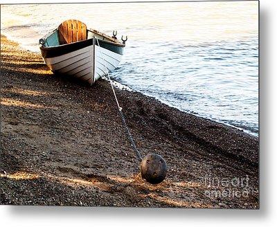 China Beach Rowboat Metal Print