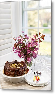 Chocolate Cake Metal Print by Elena Elisseeva