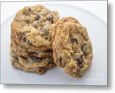 Chocolate Chip Cookies Metal Print by Edward Fielding